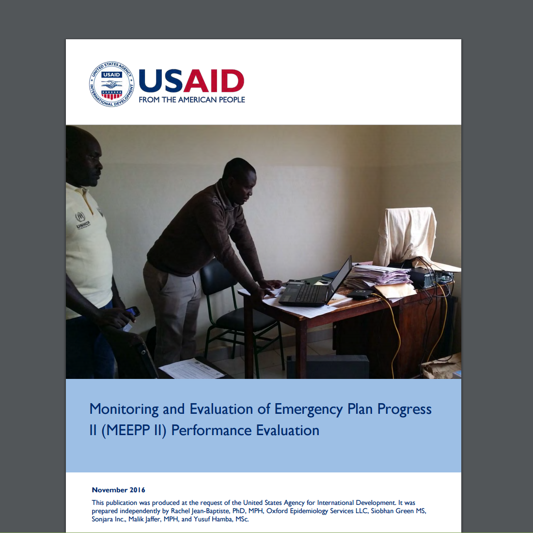 Monitoring and Evaluation of Emergency Plan Progress II (MEEPP II) Performance Evaluation
